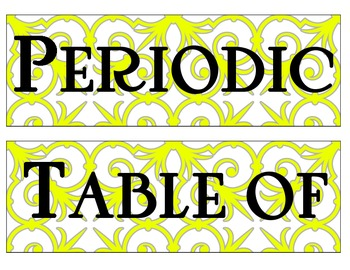 Patterns/ Artsy Periodic Table Banner