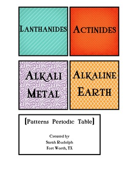 Patterns/ Artsy Periodic Table Labels
