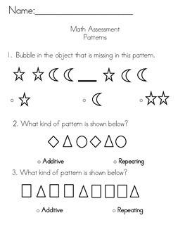 Patterns Assessment (TEKS Based)