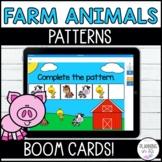 Patterns BOOM Cards Farm Animals Theme Digital Task Cards