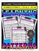 Patterns Bundle - Patterns - Set 1 -  3rd Grade (Grade 3) 4th Grade (Grade 4)