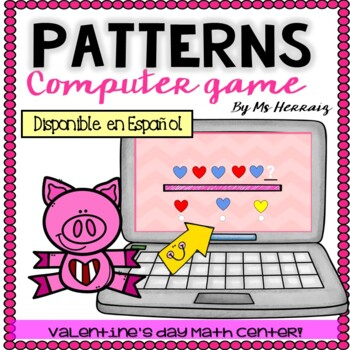 Patterns COMPUTER GAME about Valentine's Hearts. Patrones Español&English