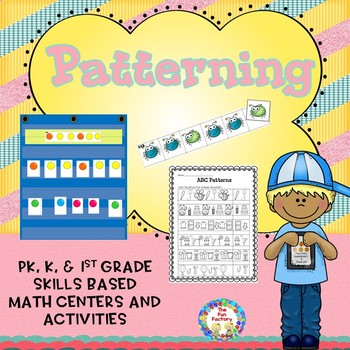 Patterns Math Center Activities and Worksheets