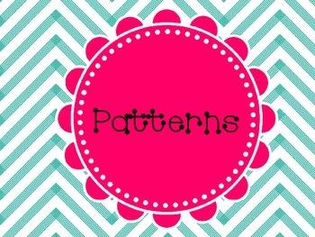 1st Grade Patterns Center Work