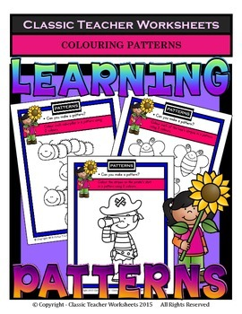 Patterns-Colour the Patterns in the Pictures-Kindergarten to Grade 1 (1st Grade)