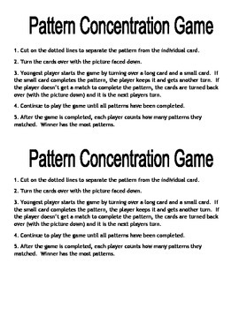 Patterns Concentration Game