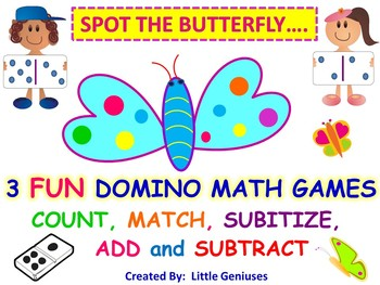 Butterfly Themed Math Games for Primary Grades