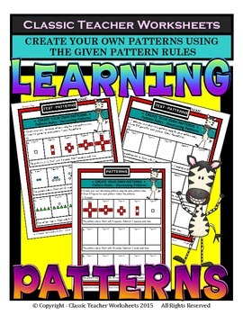 Patterns-Create Patterns Using Given Pattern Rules-Grades 2-4 (2nd-4th Grade)