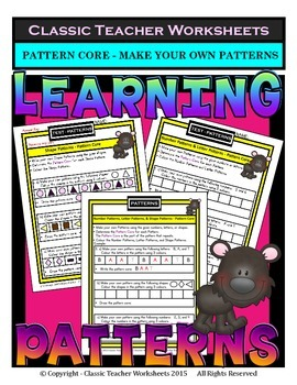 Create Your Own Patterns - Determine the Pattern Core-Grades 1-2 (1st-2nd Grade)