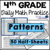 Patterns Daily Math Review 4th Grade Bell Ringers Warm Ups