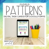 Patterns Digital Task Cards Distance Learning w/ Google Forms