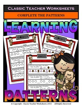 Patterns-Draw Missing Shapes in the Patterns-Kindergarten to Grade 1 (1st Grade)