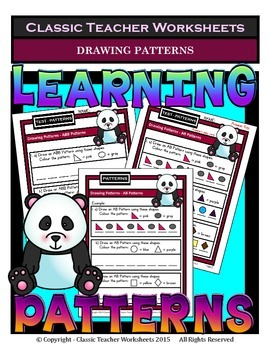 Drawing Patterns-AB, AAB, ABB, ABC Patterns-Kindergarten to Grade 1 (1st Grade)