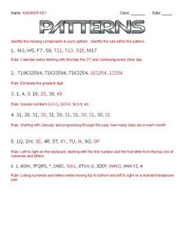 Patterns Enrichment Challenge