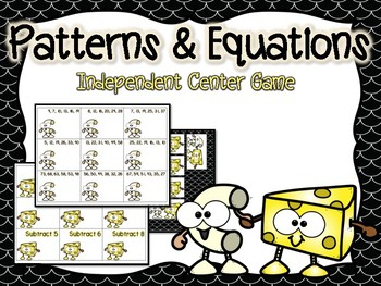 Patterns & Equations Independent Center Game #2