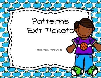 Patterns Exit Tickets