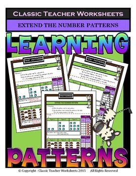 Patterns - Extend the Number Patterns-Tables Included-Grad