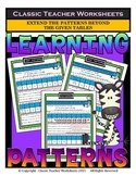 Patterns-Extend the Patterns Beyond The Given Tables-Grades 4-5 (4th-5th Grade)