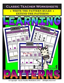Patterns-Extend Patterns Write the Pattern Rule- Grades 3-4 (3rd-4th Grade)