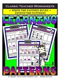 Patterns-Extend Patterns Write the Pattern Rule- Grades 3-