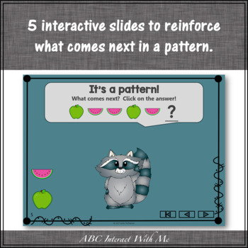 Patterns Freebie Interactive Math Game with Fruit {Dancing Raccoon}