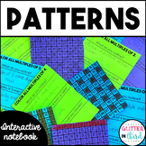 Patterns & Function Tables Math Interactive Notebook