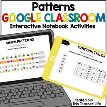 Patterns Google Classroom Interactive Notebook Activities