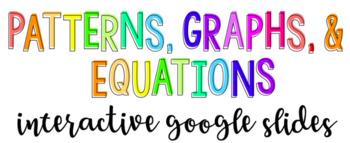 Patterns, Graphs, & Equations Interactive Google Slides Activity
