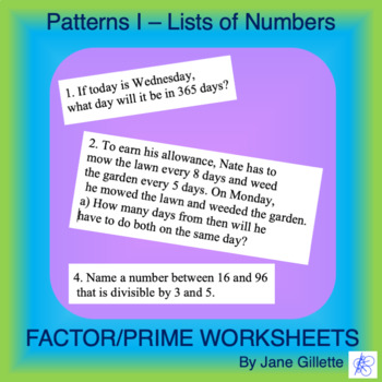 Patterns I - Lists of Numbers
