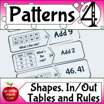 Patterns with In Out Tables Missing Numbers and Shapes