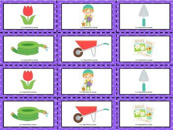 Patterns In The Garden:  LOW PREP Roll and Pattern Activity