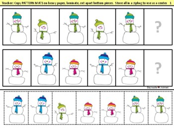 Patterns In The Snow - a HUGE activity set