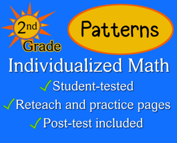 Patterns, second grade - Individualized Math - worksheets
