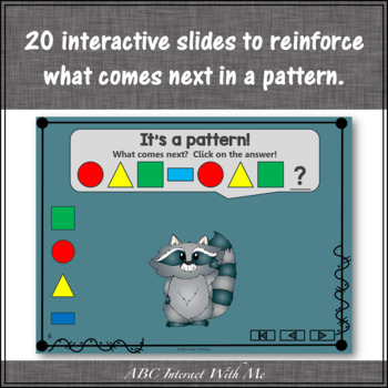 Patterns Interactive Math Game with Shapes {Dancing Raccoon}