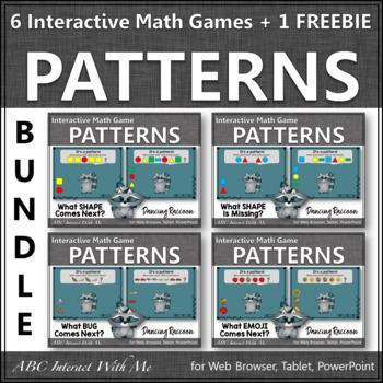 Patterns Interactive Math Games {Dancing Raccoon} BUNDLE