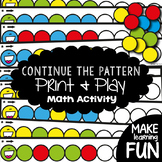 Patterns Math Center - Continue the Pattern