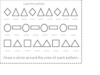 Patterns Math Journal Activities