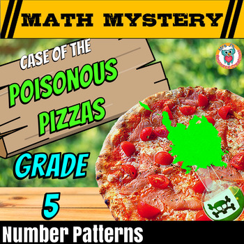 Patterns Math Mystery Activity: With Whole Numbers, Fracti