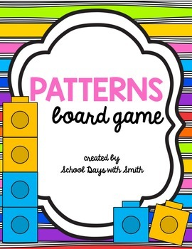 Patterns Math Partner Board Game