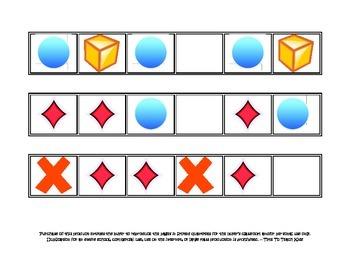 Patterns- Math center Digital Download