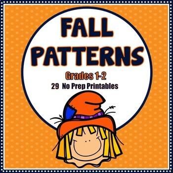 Fall Patterns No Prep Printables - Grades 1-2
