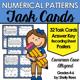 Numerical Patterns Task Cards and Poster Set - Number Patterns