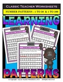 Number Patterns-Numbers 1 to 50 and Numbers 1 to 100-Grade