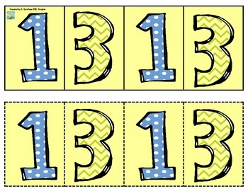Patterns: Numbers (student and teacher sizes)