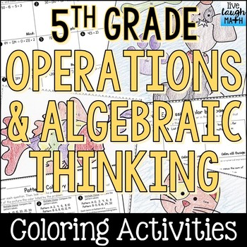 Numerical Expressions, Patterns, & Order of Operations Coloring Activties
