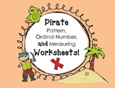 Patterns, Ordinal Numbers, and Measurement (Pirate Style!)