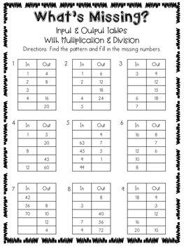 Patterns Packet  {3.OA.9}