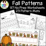 Fall Activities ● AB Patterns ● No Prep Worksheets ● Fall