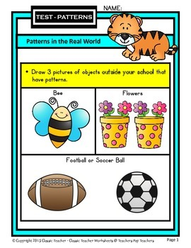 Patterns - Patterns in the Real World - Kindergarten to Grade 1 (1st Grade)