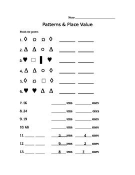 Patterns & Place Value 1st Grade